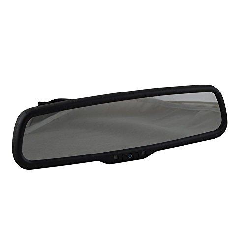 Sincero 4.3inch TFT LCD pantalla Connect para VCD/DVD/TV/GPS coche cámara espejo retrovisor (4302, Negro)