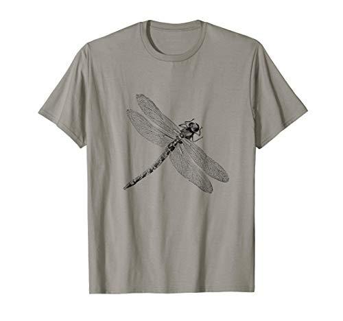 Vintage Dragonfly Print  T-Shirt -