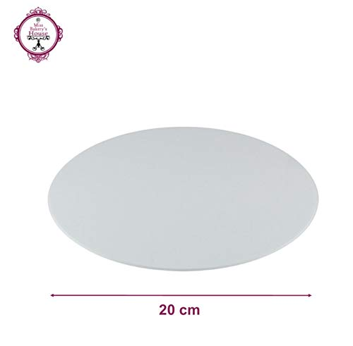 Tortenunterlage - weiß - Acryl - wiederverwendbar - rund - stabil - Kuchenplatte - Cake Board - Kuchenplatte (Ø 20 cm - rund)