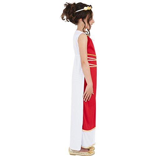 Griechische Göttin Robe Griechin Kinderkostüm L 10-12 Jahre 140-158 cm Römerin Verkleidung Mädchen Kostüm Antike Karnevalskostüm Kinder Kleid mit Kopfschmuck Outfit Sparta