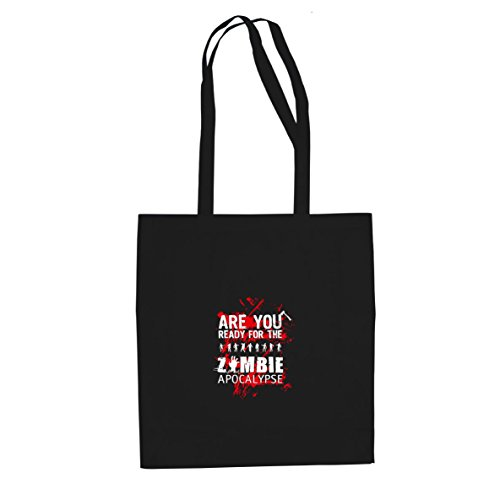 Planet Nerd Are you ready for the Zombie Apocalypse - Stofftasche/Beutel, Farbe: schwarz