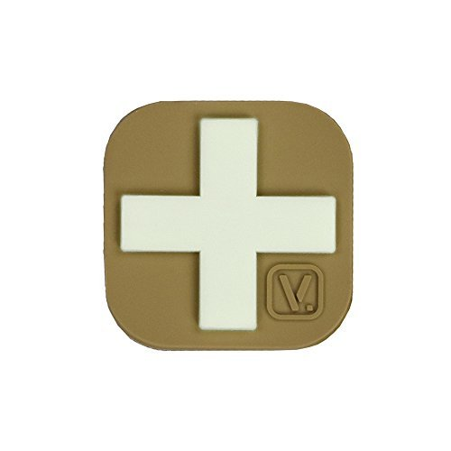 VANQUEST Medical Kreuz Super-Lumen Händen Patch, Coyote Tan -