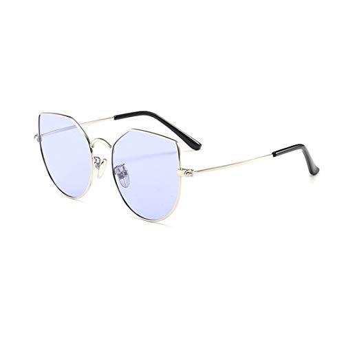 Yiph-Sunglass Sonnenbrillen Mode Graceful Cat Eyes Kids Polarized Sonnenbrillen Full Metal umrandet mit Box Colored Lens UV-Schutz Jungen und Mädchen im Alter von 3 bis 12 Jahren (Farbe : Lila)