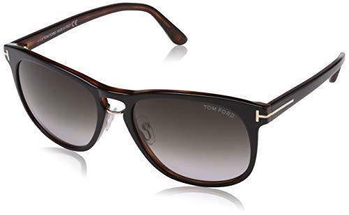 Tom Ford Herren FT0346 01V 55 Sonnenbrille, Schwarz (Nero Lucido/Blu),