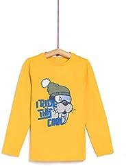 TEX - Camiseta de Algodón para Niña y Niño, Manga Larga, Cuello Redondo, Estampada
