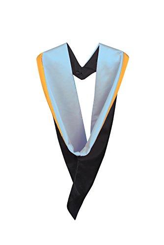 Graduation AttireHerren Kapuzenpullover Sky Blue with Gold rim Blue Rim