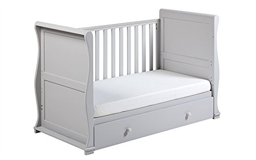East Coast Alaska Sleigh 2 Piece with Luxury ECO Fibre Mattress - Grey East Coast  7