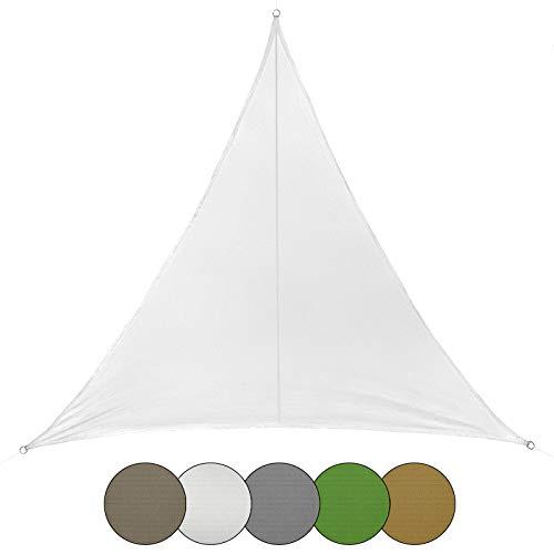 BB Sport Sonnensegel dreieckig 6m x 6m x 6m wetterbeständig wasserabweisend Sonnenschutz 100% PES Sichtschutz Windschutz Tarp, Kokos -