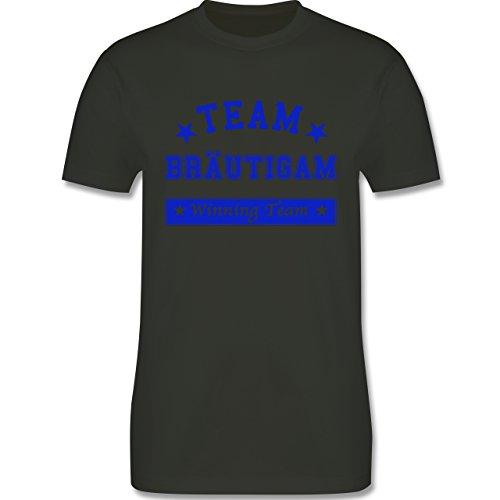 JGA Junggesellenabschied - Team Bräutigam Winning Team - Herren Premium T-Shirt Army Grün