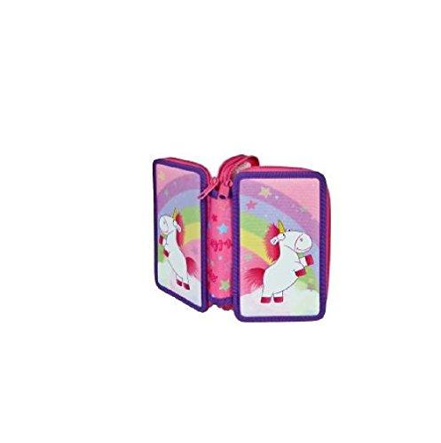 Unicorno–allievo di alta qualità–astuccio portapenne imbottito per l' inizio della scuola–panell–2ripiani–con una cerniera ideale anche per la scuola materna in asilo
