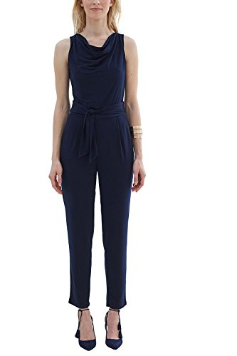 ESPRIT Collection Damen Jumpsuits 037EO1L001, Blau (Navy 400), 42 (Herstellergröße: XL)