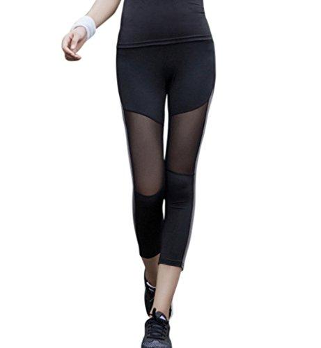 Hilarocky Pantaloni Pirata da Donna Leggings Collant Corti per Yoga Corso Ginnastica