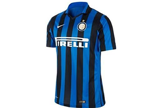 Nike 1ª Equipación Inter de Milán 2015/2016 - Camiseta Oficial Hombre, Color Negro/Azul / Blanco, Talla M