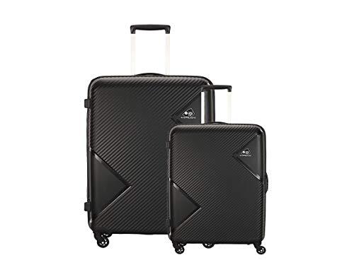 AMERICAN TOURISTER KAMILIANT Polypropylene (Set of 2 PC) Small and Medium 4W HARDSIDED STROLLY Luggage (Black)