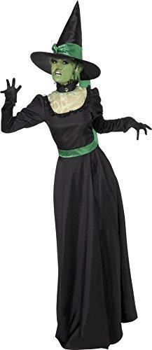 Hexe Kostüm, Kleid und Hut, Größe: M, 33134 (Hexe Kostüm Hut)