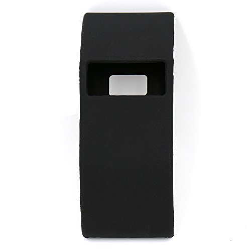 Woodln Silikon Band Cover Fälle für fitbit Charge or Fitbit HR Charge Case Cover Stoßstange-Abdeckung (Black)