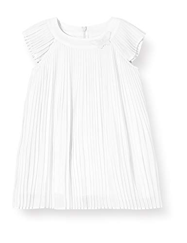 s.Oliver RED LABEL Unisex - Baby Plisseekleid aus Chiffon white 68