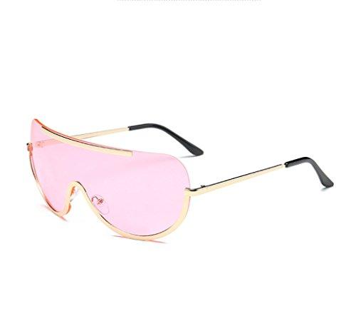 YANJING Sonnenbrille europäischen und amerikanischen großen Rahmen Brille siamesische Brille Mode Trend Marine Film Sonnenbrille Cuiyan (Farbe : 4)