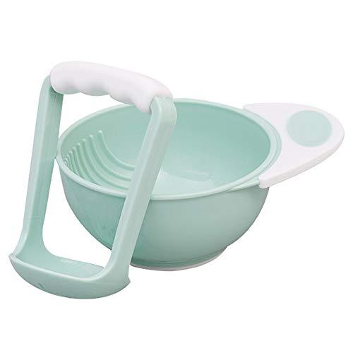 Schleifstifte Schüssel, manuelle Klimaanlage Werkzeug für Kinder Food Nahrungsergänzungsmittel 2PC 6 * 15cm grün