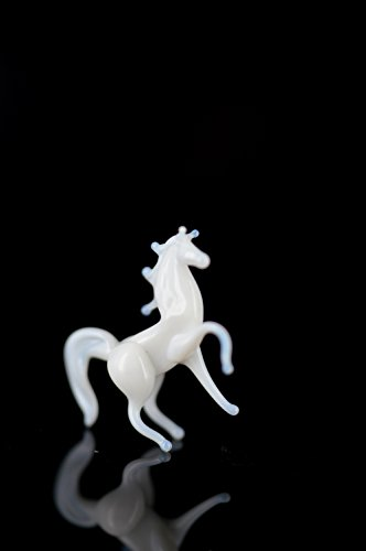 Caballo Mini Color Blanco – Figura en miniatura de cristal moho sp