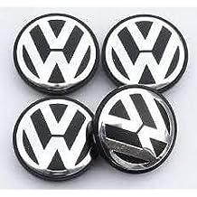 4 Cubos de rueda center caps para VW Golf 5, Golf 6, Tiguan, Touran, Passat, Touareg II,
