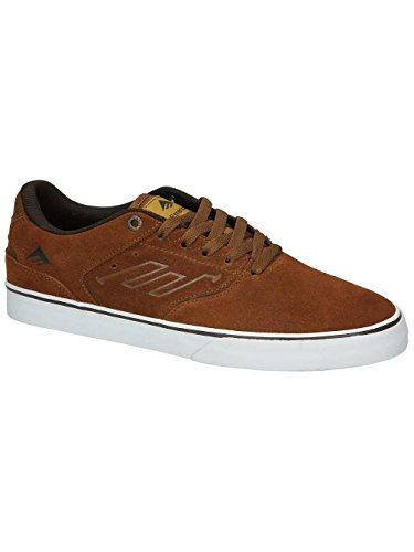 Emerica The Reynolds Low Vulc, Chaussures de skateboard homme Brown/White/Gum