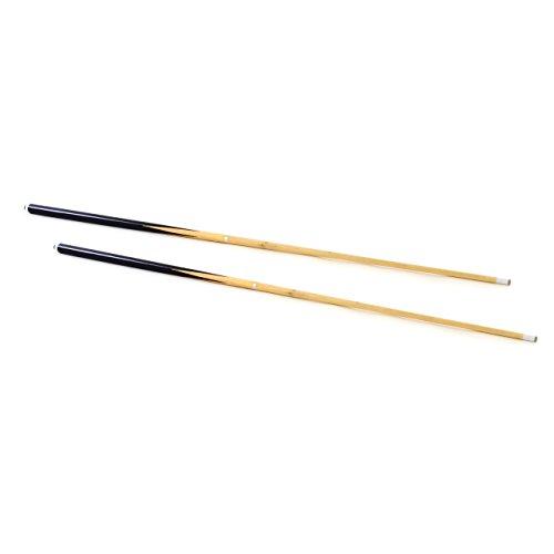 2er Set Queue für Billard Snooker Pool aus Holz geteilt 2 Stücke 146,5 cm 57,7 Zoll mit Gummipuffer und Leder Ø 12 mm