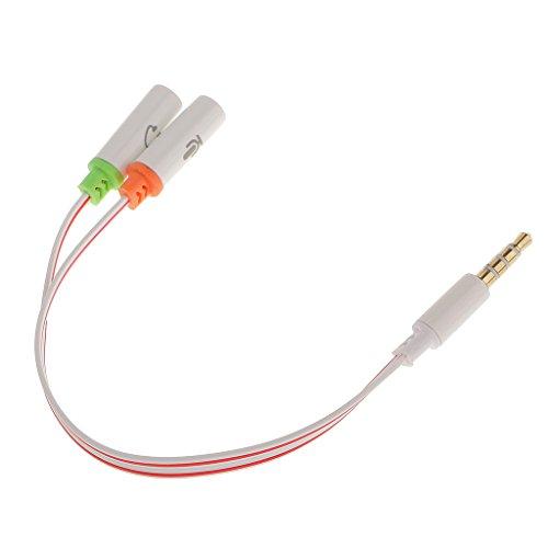 Galleria fotografica Sharplace Stereo Maschio a Doppio Femminile Connettore Headphone Jack Audio Sdoppiatore Cavo
