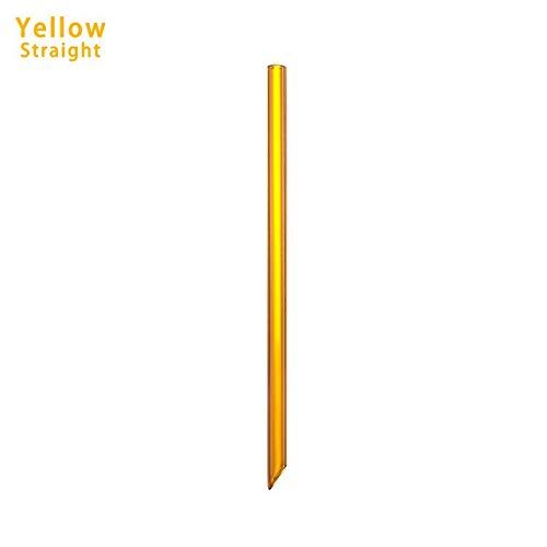 Casavidas 1 Stück mehrfarbiger, wiederverwendbarer Glas-Strohhalm, umweltfreundlich, handgefertigt, gerade/biegbar, Pyrex-Glas, Trinkhalm: gerade Gelb