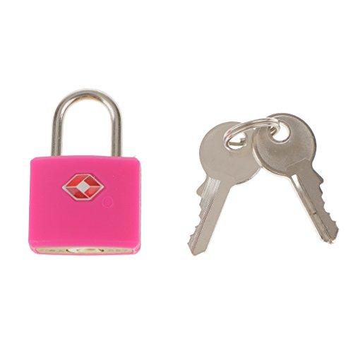 Shiwaki Metall Sicherheitsschloss Schubladenschrank Box Vorhängeschloss TSA Reisekoffer Schloss, 2 Schlüssel - Rot -