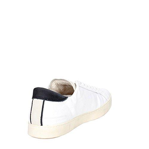 Basket D.A.T.E. Hill Low en peau et chamois blanc Blanc