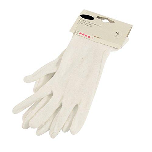Allergiker Handschuhe Baumwolle weiß Größe 10 / L Kosmetikhandschuhe Unterziehhandschuh