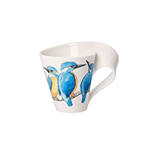 Villeroy & Boch NewWave Café Coffee Mug King Fisher, 300 ml, Height: 11 cm, Premium Porcelain, Blue/Multicolour