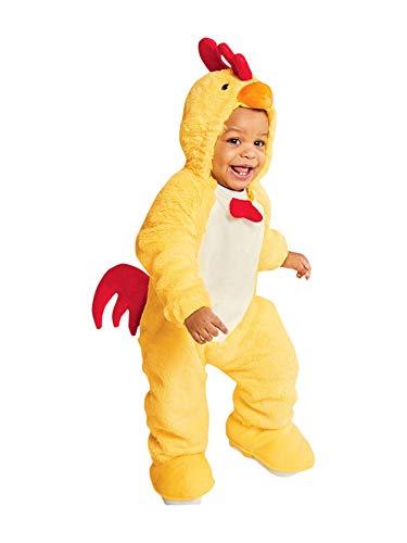 Unbekannt Baby Plush Chicken Halloween Costume Jumpsuit 0-6 Month (Baby Chicken Kostüm)
