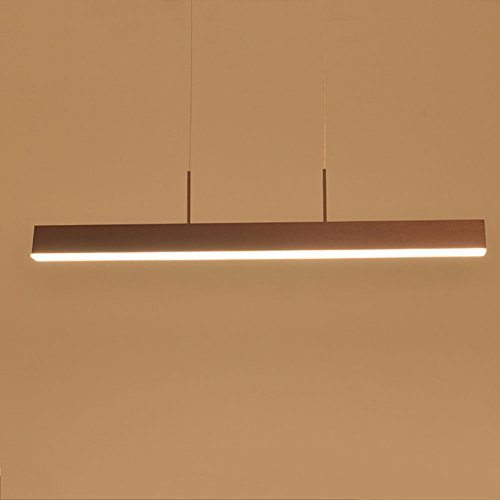Kronleuchter Kronleuchter moderne Pendelleuchte hängende Deckenleuchten Single Pole Brown LED Licht 80cm / 100cm (dimmbar) (größe : L) -