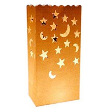 SODIAL(R) 10Pcs Tea Light Holder Paper Lantern Candle Bag Party Christmas Home Decoration