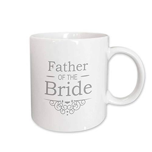 3dRose Tasse 151575_ 2Vater der Braut in Silver-Wedding-Part der passenden Ehe Party Set-Grey grau wirbelt Keramik Tasse, 15-Ounce -