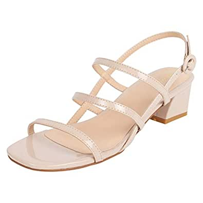 Catwalk Women's Glossy Strappy Sandals