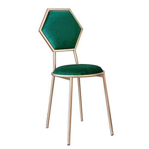 JBD Barhocker Stuhl mit Rückenlehne für Küche/Bar Gold Metallbeine - Samt gepolsterter Sitz - 48 cm Pub Höhe - Moderne Freizeit Esszimmerstühle Vanity Hocker -