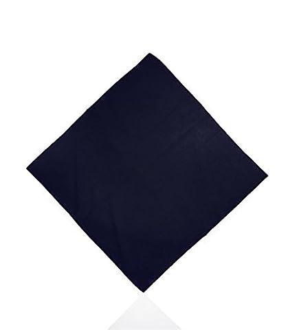 Plain Cotton Bandanas by Lizzy® (Navy Blue)
