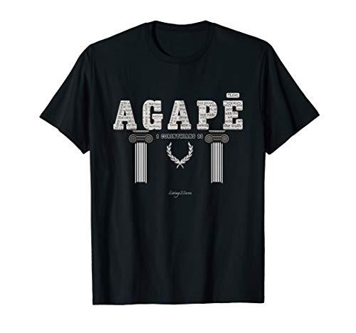 Christliche Kleidung, agape das griechische Wort für Liebe T-Shirt