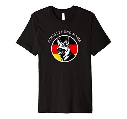 Schäferhund Mama Art T-Shirt German Shepherd Mama Shirt