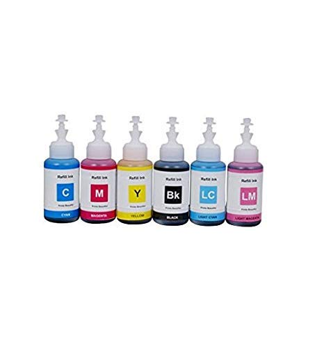 PPS Refill Ink for Epson L1800 Ink Tank Printer - 6 Colors - 70 ml Each Bottle
