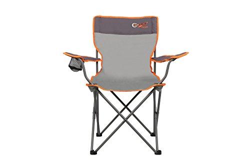 Portail extérieur Unisexe Oscar Pliable Chaise de Camping, Gris/Orange, 51 x 41 x 45 cm