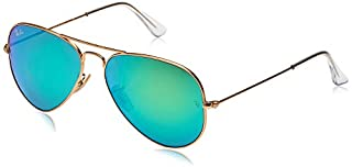 Ray-Ban - Lunettes de Soleil - RB3025 Aviator Metal 58 mm, Matte Gold/Crystal green mirror, 58 mm (B009CG2AJM) | Amazon price tracker / tracking, Amazon price history charts, Amazon price watches, Amazon price drop alerts