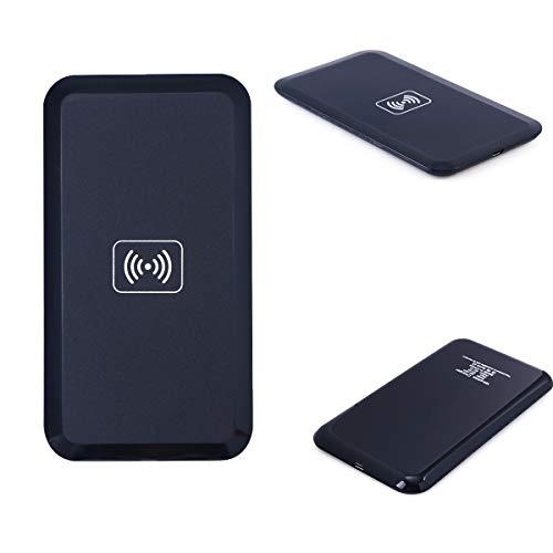 Hemobllo Qi Wireless Power Charger Induktives Ladegerät für Samsung Note3 S3 I9500 S5 Nexus5 Lumia 920 820 HTC 8X (Schwarz)