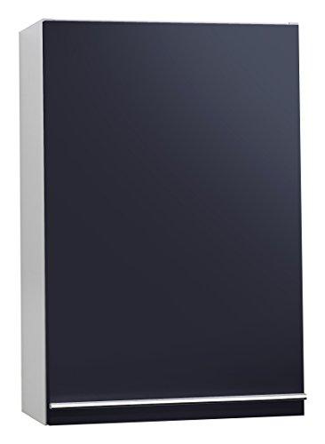 Cavadore 86069 Hängeschrank Sleek 01 Hochglanz Schwarz / Stilvoller Wandschrank 1-türig aus Holz / mit Soft-Close Funktion / 21 x 40 x 60 cm (T x B x H)