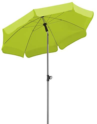 Schneider Sonnenschirm Locarno, apfelgrün, 150 cm rund, Gestell Stahl, Bespannung Polyester, 2 kg