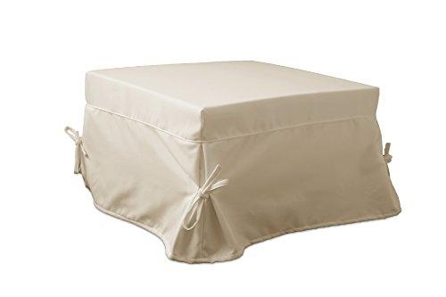 Ponti Divani - SOFIA - Pouf letto singolo con materasso h 10cm di ottima qualità e rete italiana Tessuto Beige