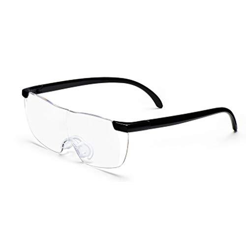 RFJJ Vergrößerungsgläser HD, die tragbares 20 hohe Zeiten alte Mannleselesungs-Handyvergrößerungsglas tragen Geeignet für Sehhilfen (Farbe : SCHWARZ)